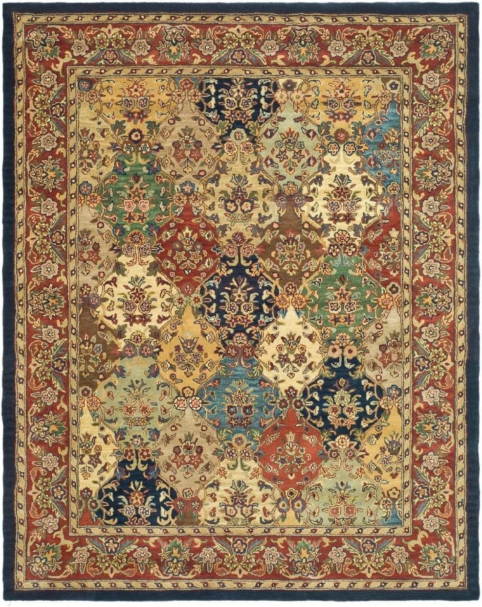 Safavieh HG911 Heritage Area Rug 11 L x 8 3 W Large Rectangle Multi Burgundy
