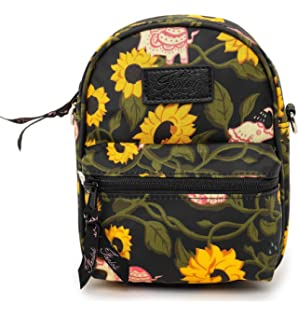 3a59e0a9c79a Amazon.com: Backpack Yellow Blooming Sunflowers Black Canvas School ...