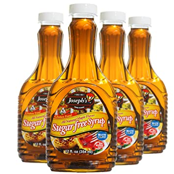 Amazon josephs sugar free maple flavor syrup pack of 4 josephs sugar free maple flavor syrup pack of 4 12oz in a twospriped negle Image collections