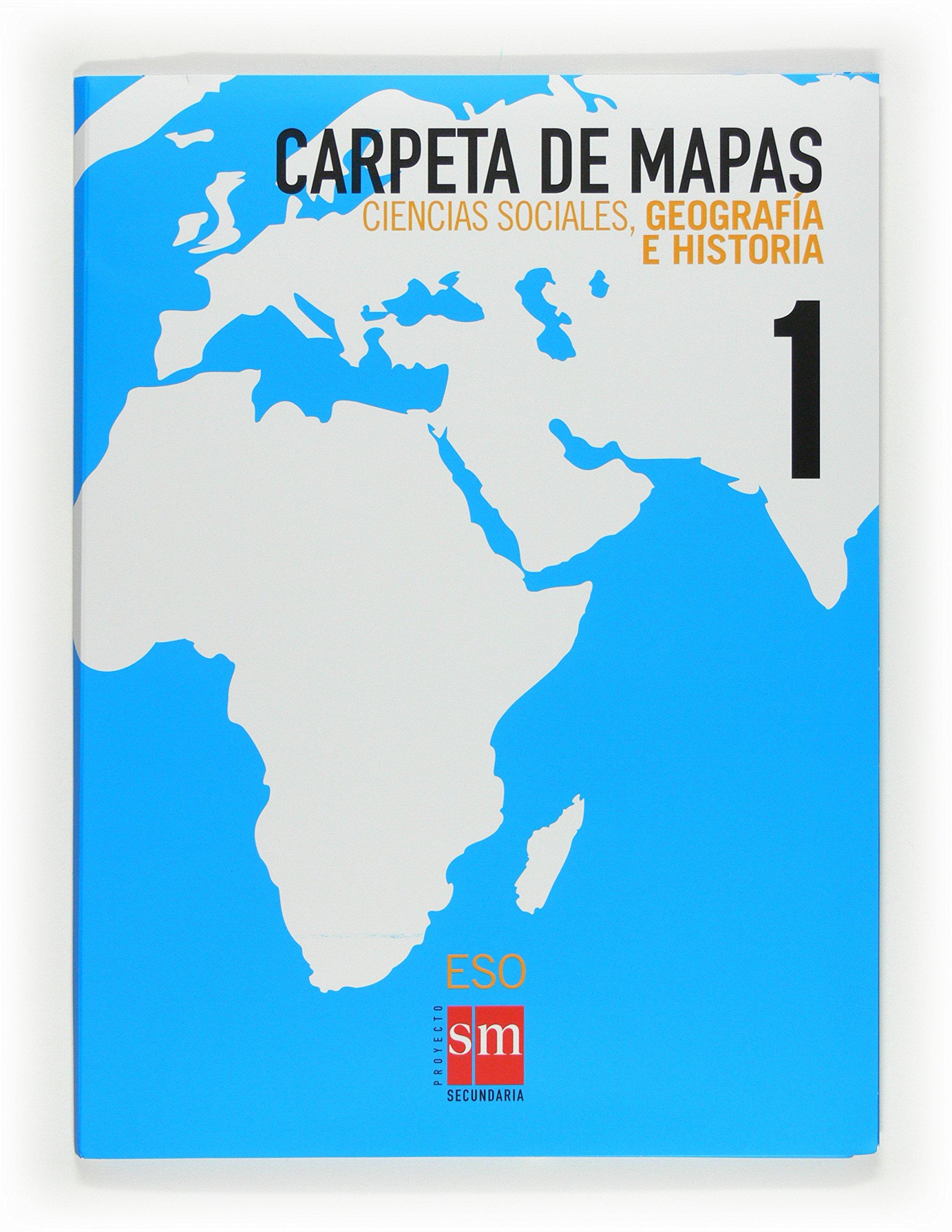 Ciencias sociales, geografía e historia. 1 ESO. Carpeta de mapas - 9788467534184: Amazon.es: Equipo de Educación Secundaria de Ediciones SM,: Libros