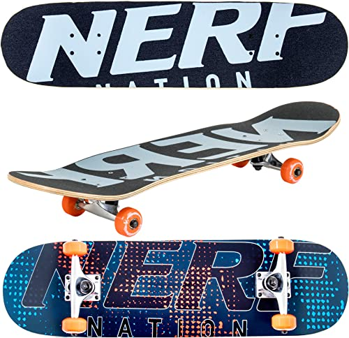 Flybar 31 x 8 Complete Beginner Skateboards 7 Ply Maple Wood Board Pre Built – 7 Designs Available