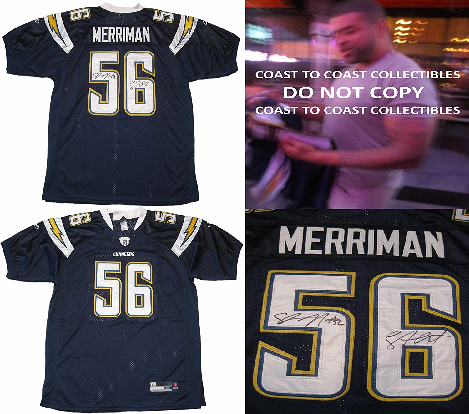 Amazon.com: Shawne Merriman, San Diego Chargers, Signed ...