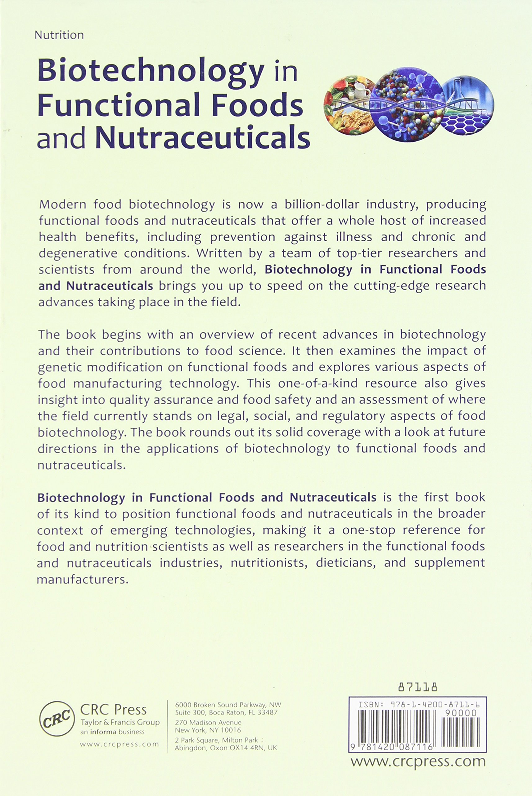 Buy Biotechnology in Functional Foods and Nutraceuticals Book Online at Low  Prices in India | Biotechnology in Functional Foods and Nutraceuticals  Reviews ...