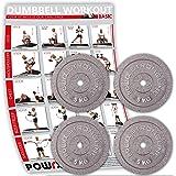POWRX Discos Hierro Fundido 2,5 - 20 kg - Pesas Ideales para ...