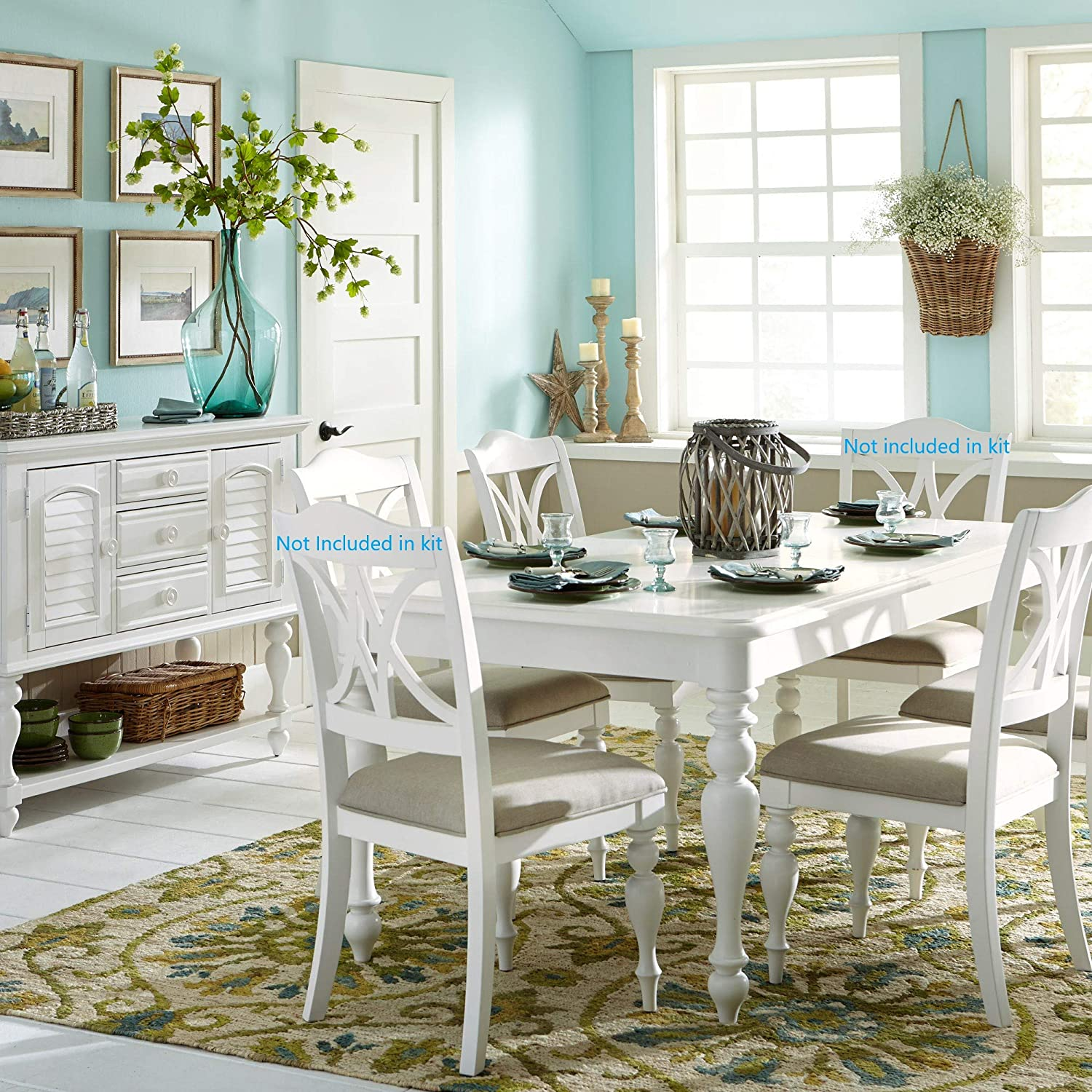 Liberty Furniture Industries Summer House 5 Piece Rectangular Table Set, W40 x D78 x H30, White