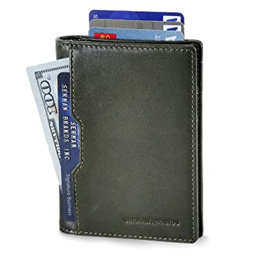 6607090ee8beb Wallets for Men Slim Mens leather RFID Blocking Minimalist Card Front  Pocket Bifold Travel Thin (
