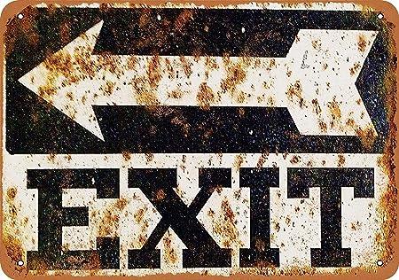 Exit Sign Retro Cartel de Chapa Coffee Póster Bar Cafe ...
