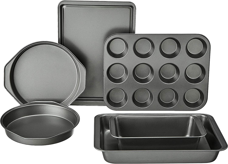 Basics 6-Piece Nonstick Oven Bakeware Baking Set: Kitchen & Dining