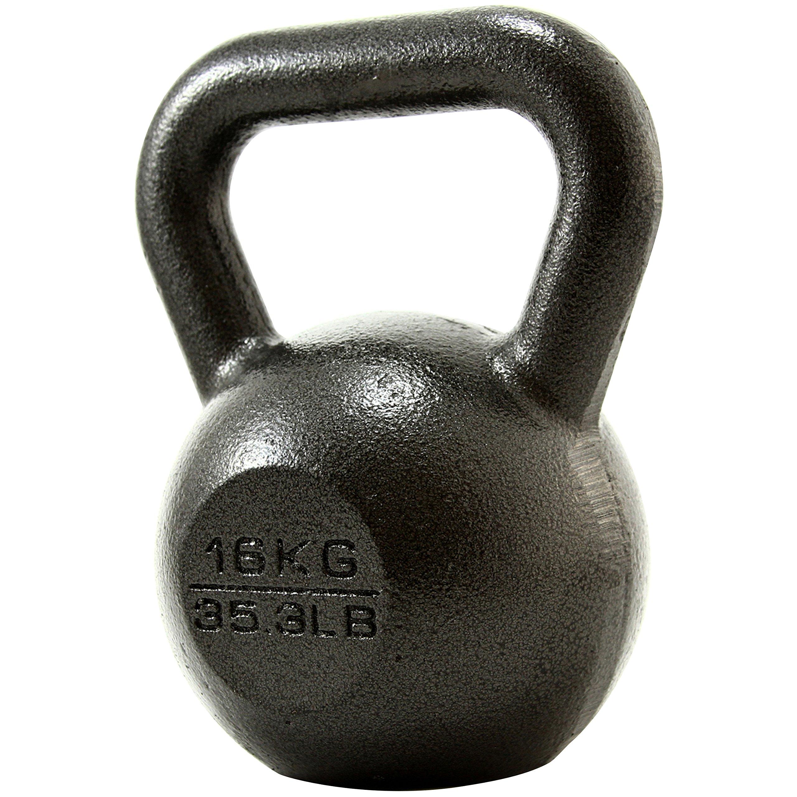 PROIRON Pesa Rusa de Hierro Fundido, Kettlebell 4kg 8kg 12kg 16kg 20kg 24kg para fisicoculturismo
