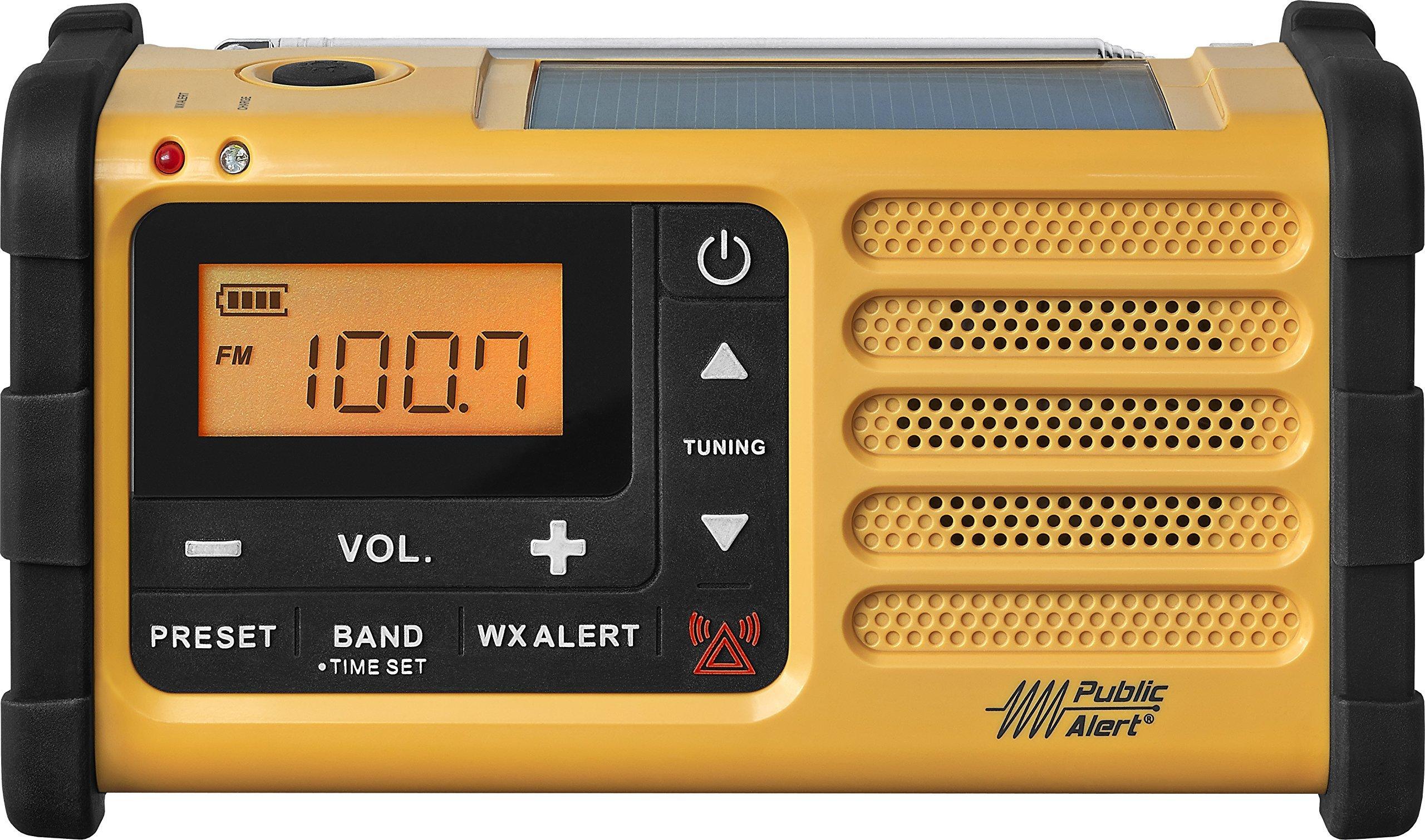 Sangean MMR-88 AM/FM/Weather+Alert Emergency Radio. Solar/Hand Crank/USB/Flashlight, Siren, Smartphone Charger (Certified Refurbished)