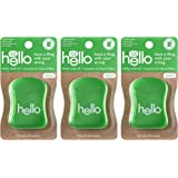 Hello Natural Fresh Spearmint Floss with Hemp Seed Oil + Coconut Oil, 3 Count