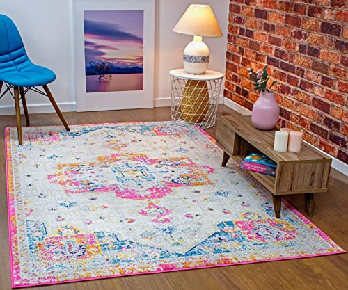 Antep Rugs Elite Collection Bohemian Distressed DSG66 Indoor Area Rug Lilac, 5 x 8