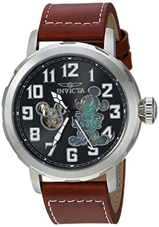 d23a602d184 Invicta Men s Disney Limited Edition Automatic-self-Wind Watch with Leather  Calfskin Strap