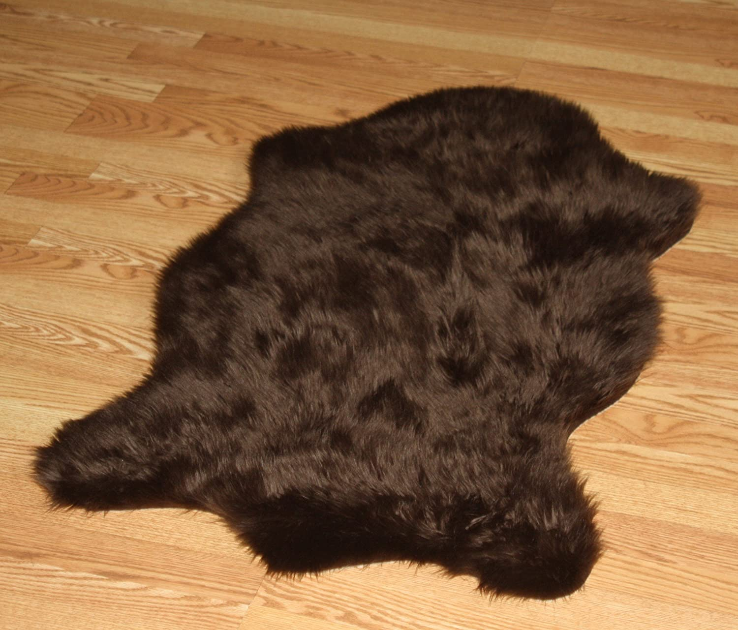 Amazon.com: Faux Animal Skin Shape Rug 3' X 5' (DARK BROWN): Kitchen &  Dining - Amazon.com: Faux Animal Skin Shape Rug 3' X 5' (DARK BROWN