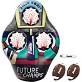 Franklin Sports Kids Football Target Toss Game - Inflatable Football Throwing Target with Footballs - Kids Football Toss Game