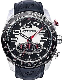 Herren Uhr Armband Quarz Silikon Alpinestars 1037 Chronograph Mit nwP8Ok0
