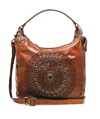 klassischer Stil von 2019 neues Design süß billig Campomaggi Women's Leather Studded Shopper Bag One Size ...
