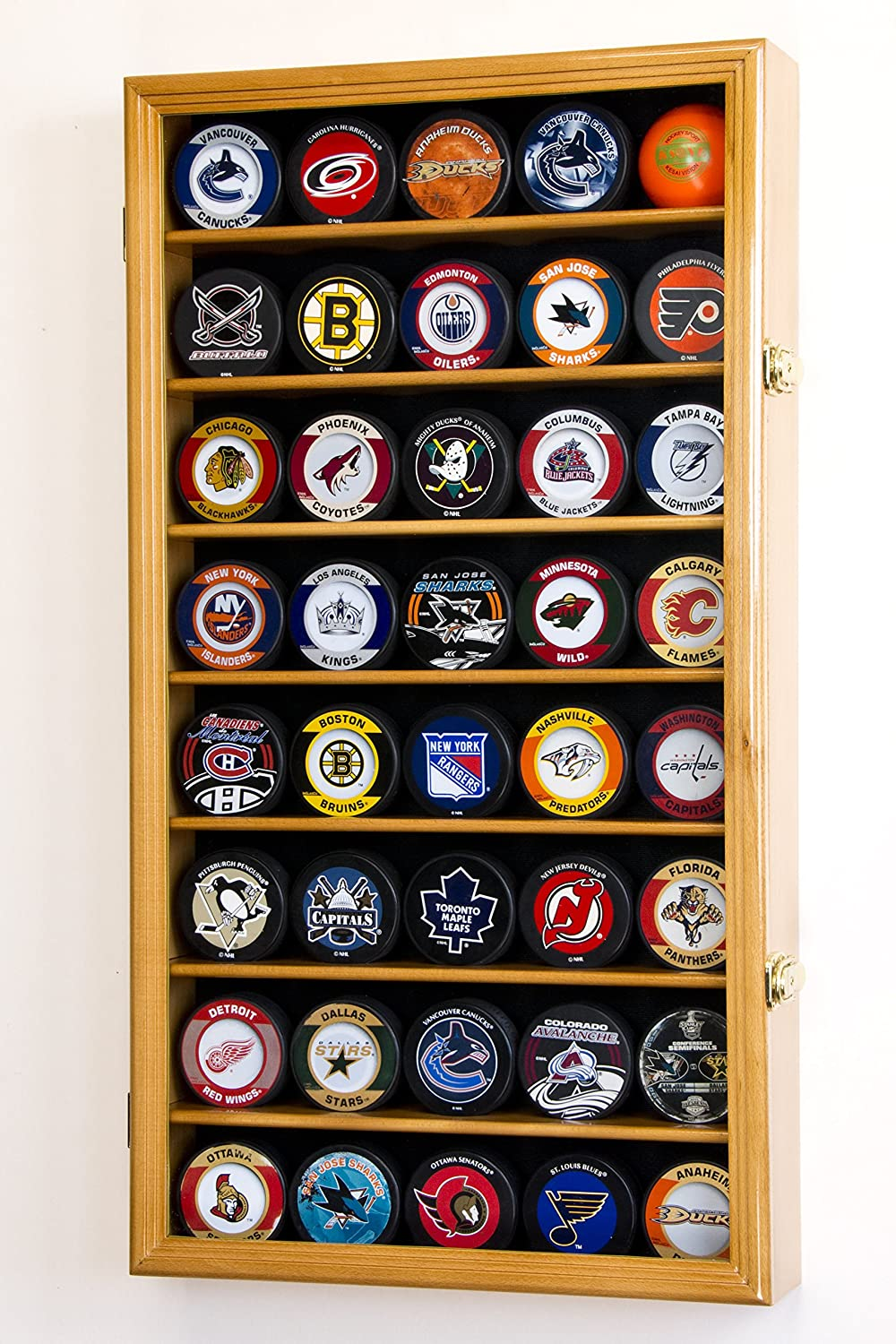 sfDisplay.com, Factory Direct Display Cases 40 Hockey Puck Display Case Cabinet Holder Rack 98% UV
