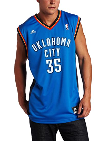 3b11ee4df62a NBA Men s Oklahoma City Thunder Kevin Durant Revolution 30 Road Replica  Jersey H Size (Blue