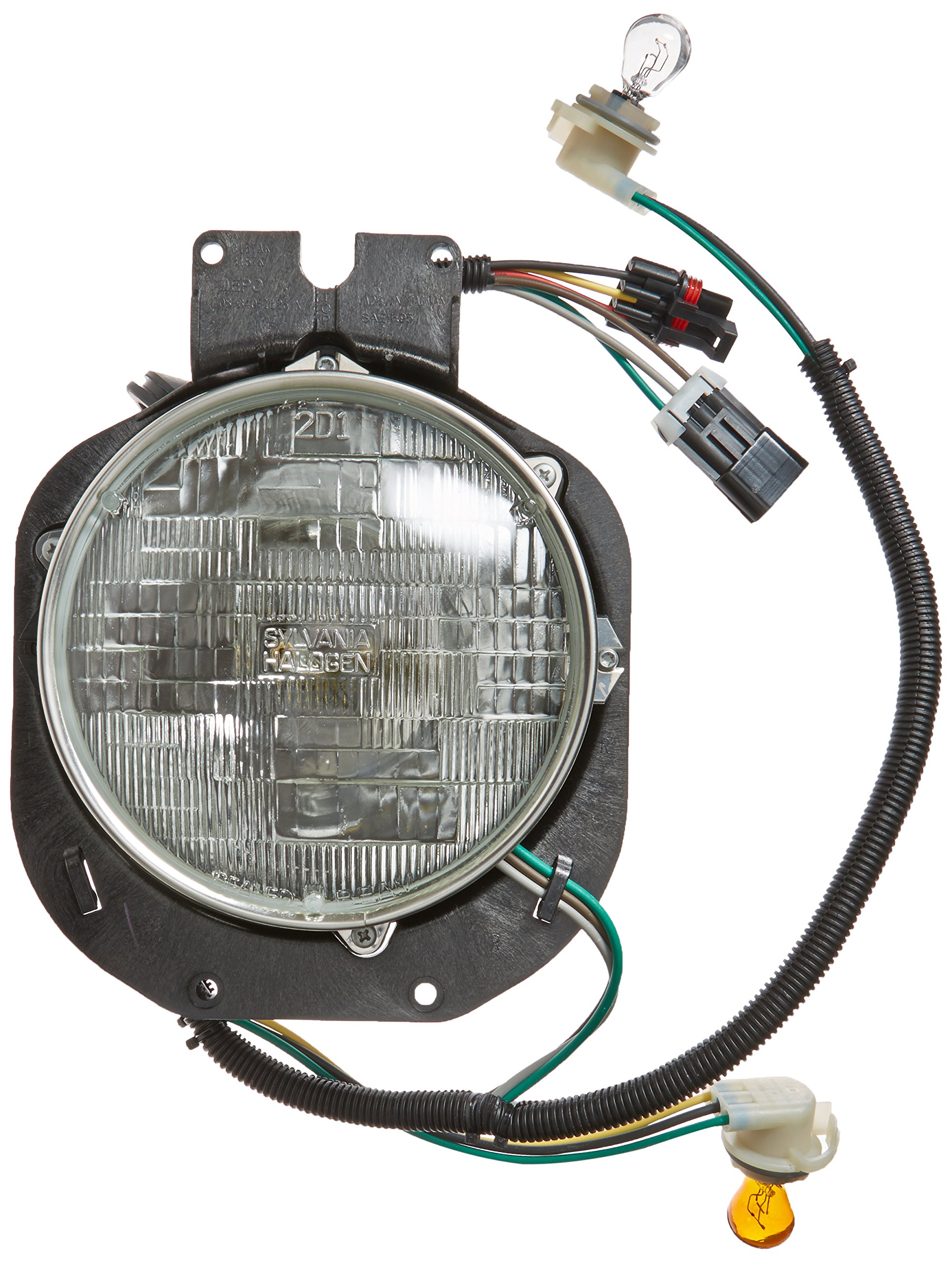 Depo 340-1126R-AS Freightliner Century Passenger Side Replacement Headlight Assembly