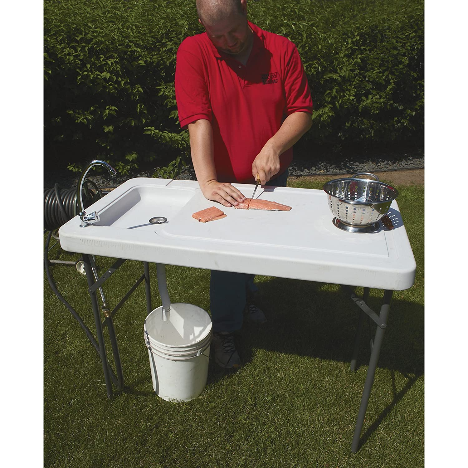Amazon.com : Fish Cleaning Camp Table With Faucet : Sports & Outdoors
