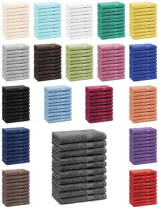 11 opinioni per Betz Set di 10 asciugamani per ospiti 30x50 Premium 100 % cotone Color nero