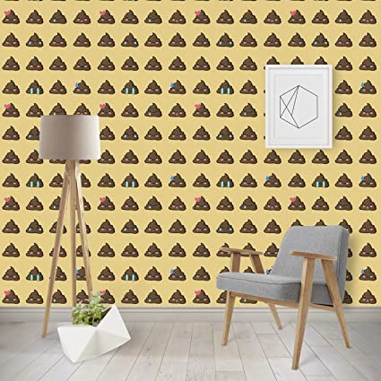 Rnk Shops Poop Emoji Wallpaper Surface Covering Water Activated Removable