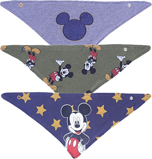 Handmade Mickey Mouse Christmas Dribble Bib