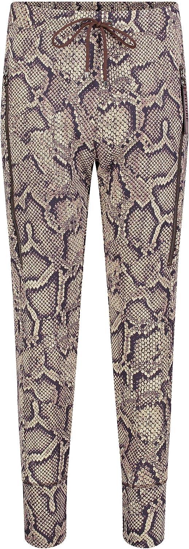 MAC Jeans Damen Hose Relaxed Future schwarztöne Corn Beige Printed