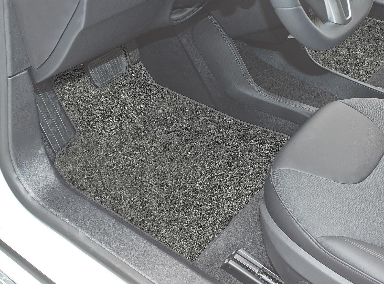 Black Nylon Carpet Coverking Custom Fit Rear Floor Mats for Select Dodge Models