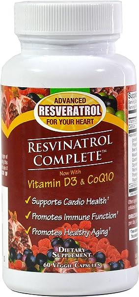 Amazon.com: resvinatrol completa Resveratrol Suplemento dietético ...