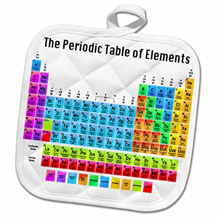Amazon 3d Rose The Periodic Table Of Elements Pot Holder 8 X
