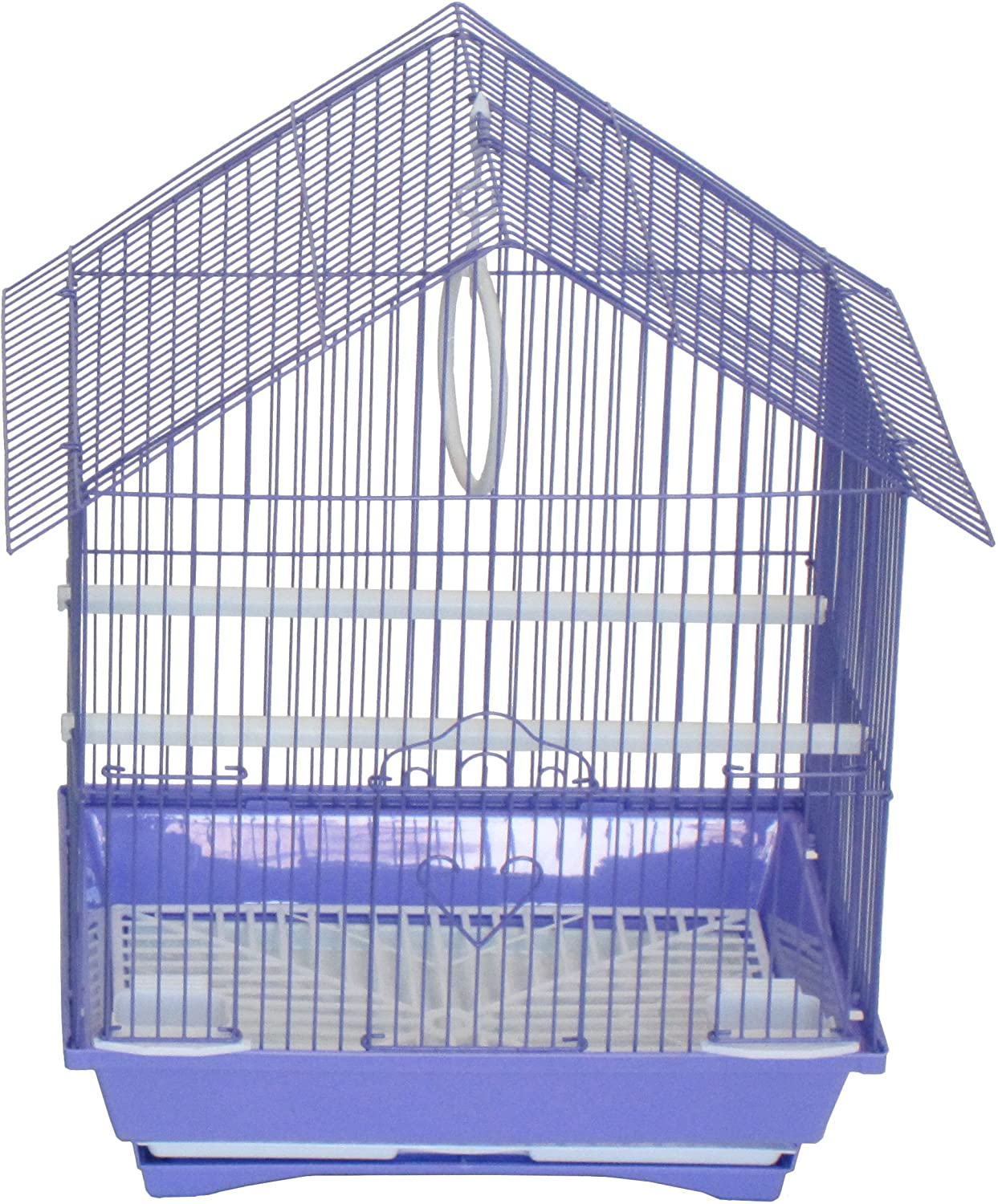 YML A1314MPUR House Top Style Small Parakeet Cage 13.3Lx10.8Wx17.8H-Inch