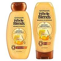 Garnier Hair Care Whole Blends Honey Treasures Repairing Shampoo & Conditioner, 44 Ounces