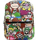 "16"" Super Mario All Over Print School Backpack"