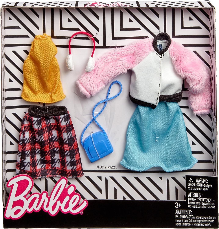 Amazon.es: Mattel Invierno | 2 Moda Set | Barbie FKT39 | Ropa de la Muñeca: Juguetes y juegos