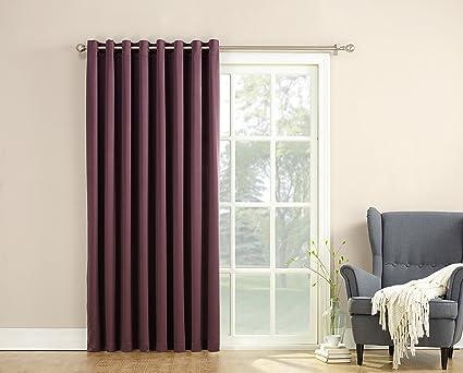 Sun Zero Barrow Energy Efficient Patio Door Curtain Panel, 100u0026quot; X  84u0026quot;,