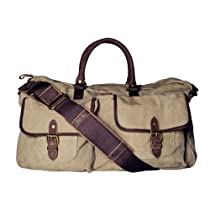 Navali Stowaway Canvas and Leather Weekender Bag