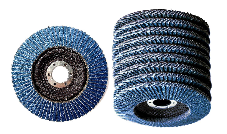 Mastiff 2 unidades, 125 x 22,2 mm, K60, acero inoxidable, para amoladora angular, grano P60 color azul Discos abrasivos