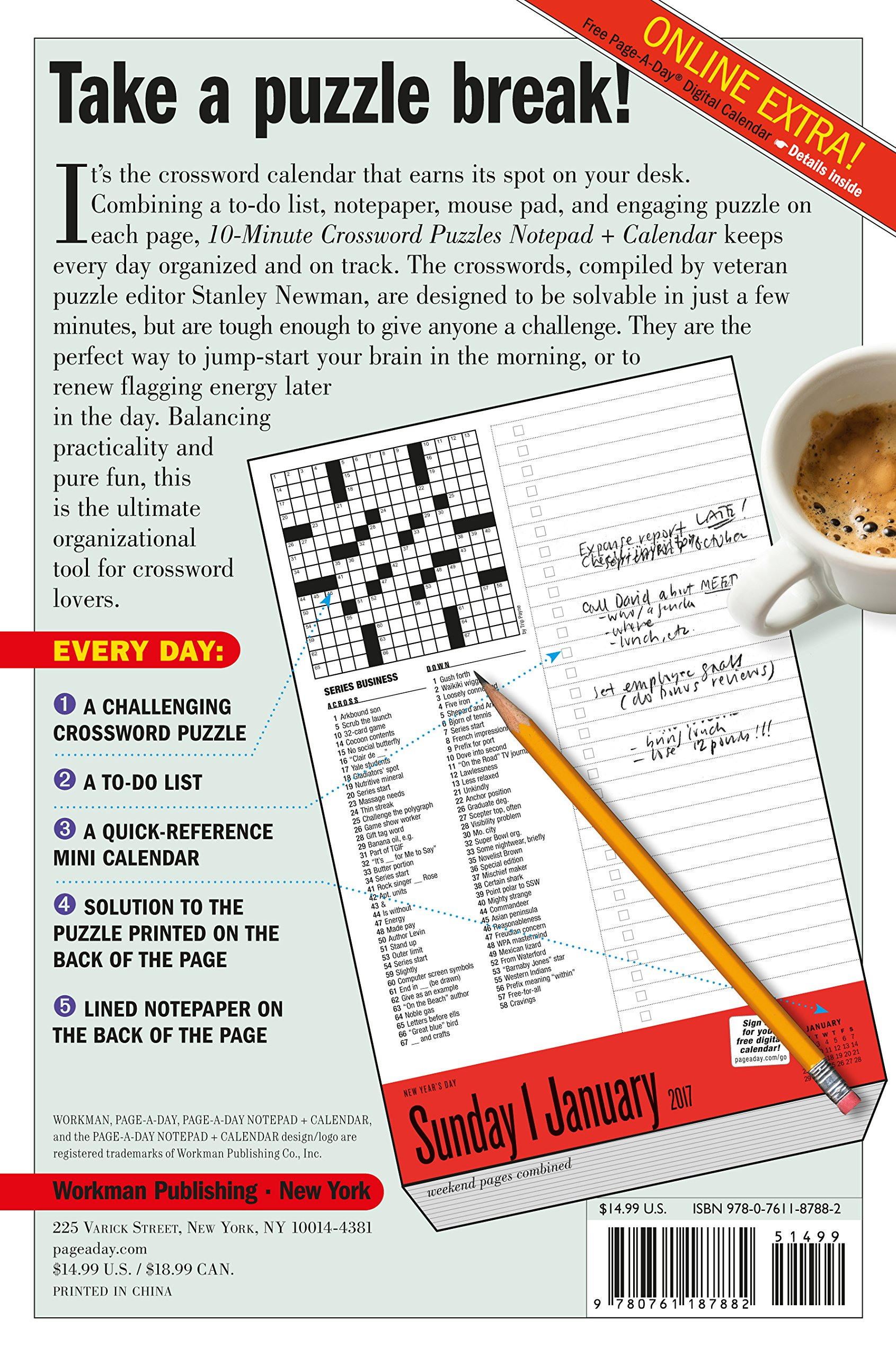 10 minute crossword puzzles notepad calendar 2017 stanley 10 minute crossword puzzles notepad calendar 2017 stanley newman 9780761187882 amazon books biocorpaavc