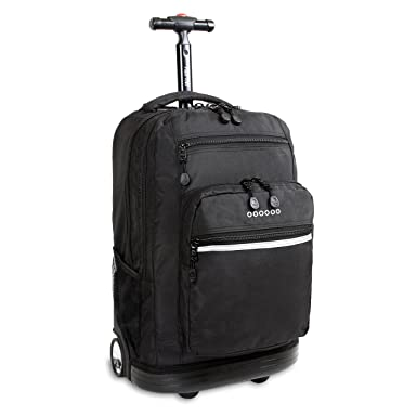 Amazon.com | J World New York Sundance Rolling Backpack, Black ...