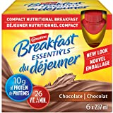 CARNATION BREAKFAST ESSENTIALS Chocolate Nutritional Drink 6 x 237 ml - Packaging May Vary