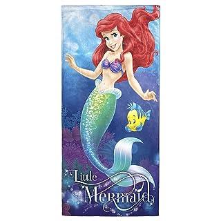 """Disney Little Mermaid Ariel Coral Reef 2 Pack of Cotton Bath, Pool, Beach Towels 28"""" x 58"""" each (Pack of 2 Beach Towels)"""