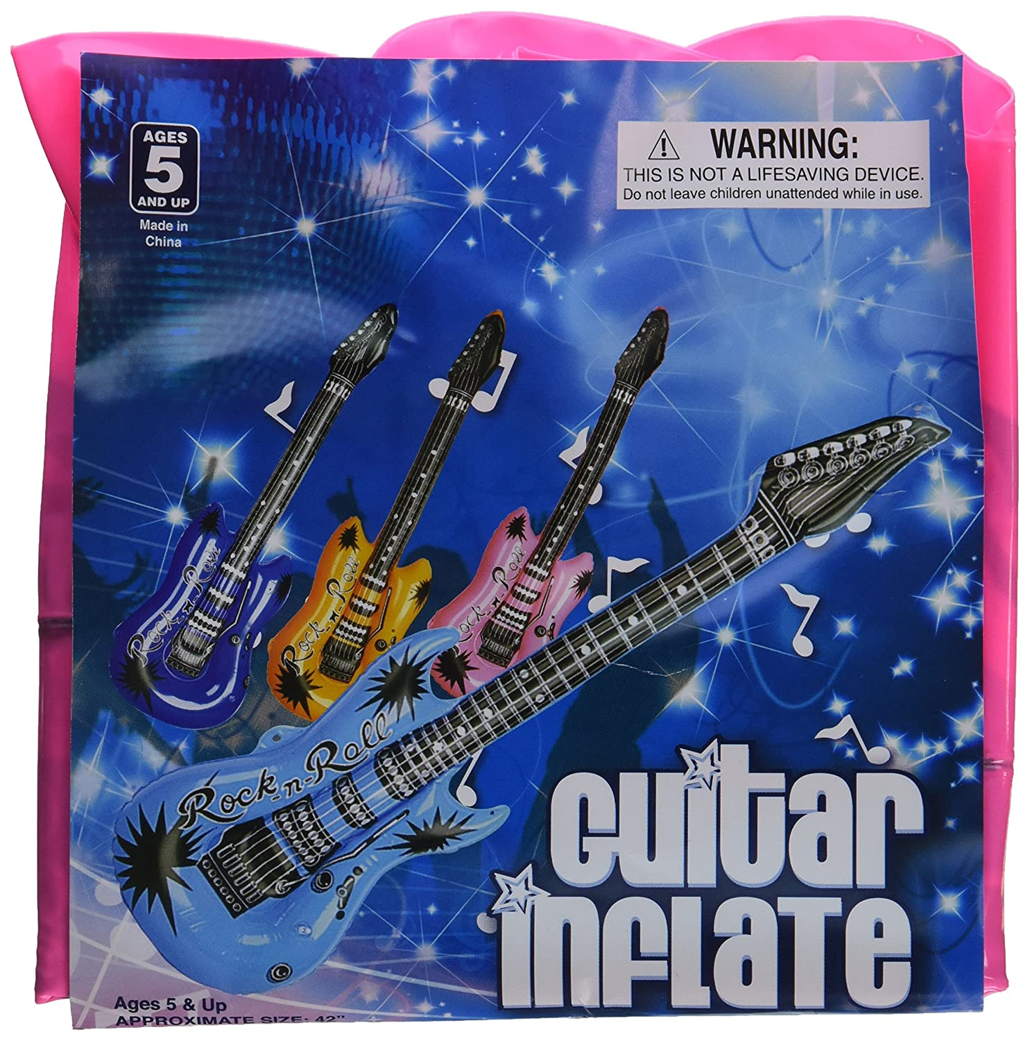 inflatable guitars 42 inch 12 pkg assorted colors