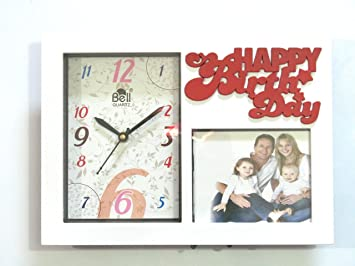 Buy Wall or table clock with Photo frame White Online at Low