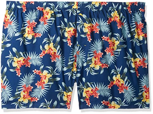 ccd6a9b562 Tommy Bahama Men's Bering Blue Floral Woven Boxer- Big, Large, 3XB ...