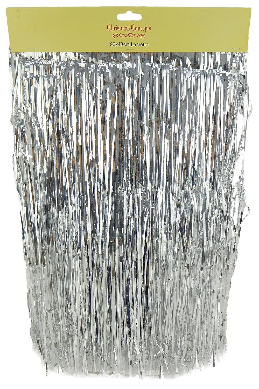 Shiny Silver Lametta - Christmas Tree Decorations - Size: 90cm x 48cm