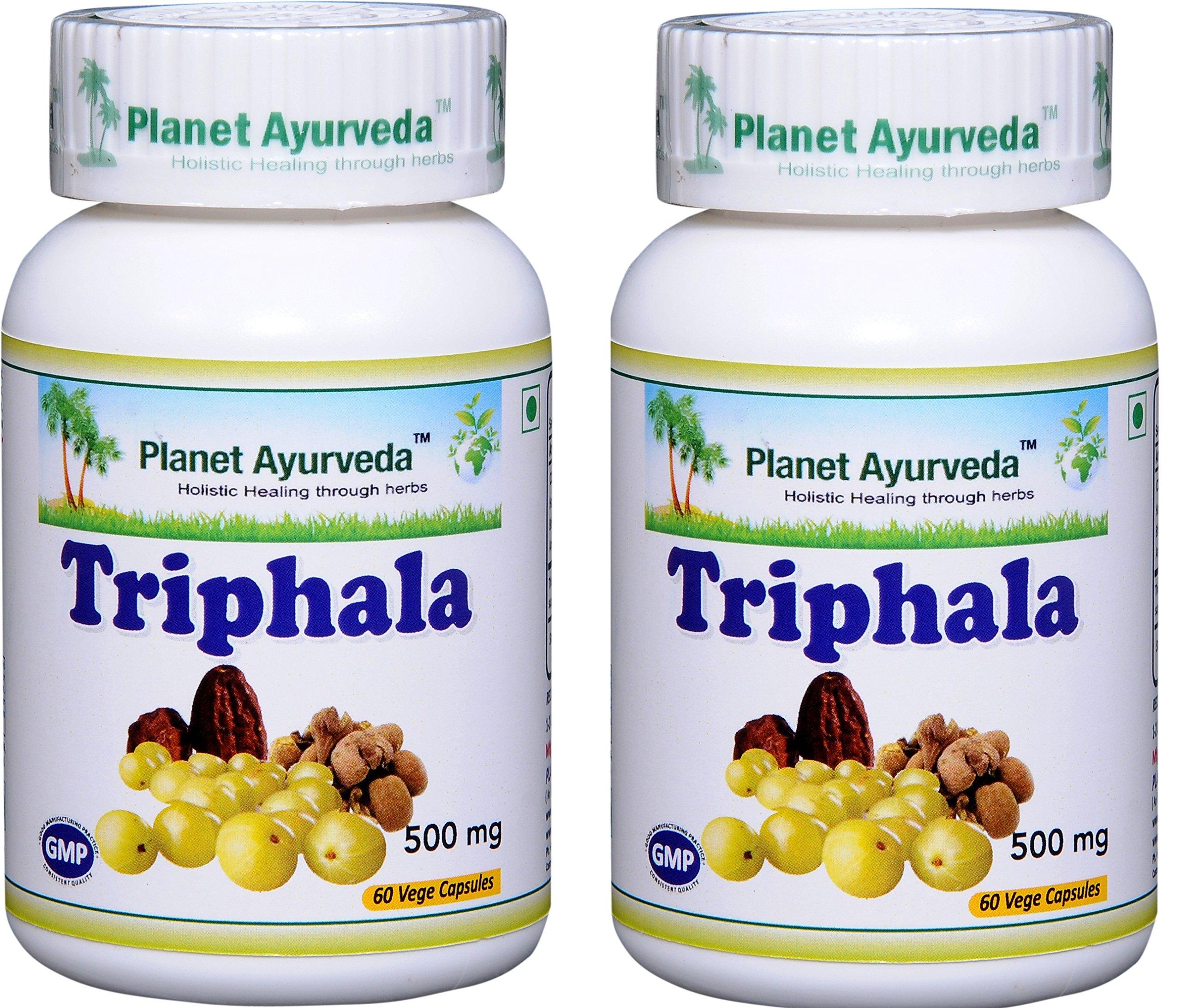 Planet Ayurveda Triphala, 500 Mg Veg Capsules, 2 Bottles