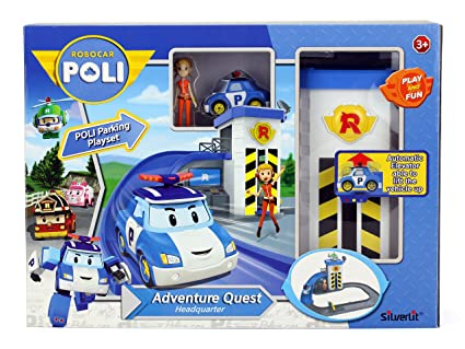 Amazon.com: Robocar Poli estacionar Playset s83316: Toys & Games