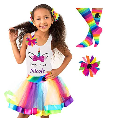 Birthday Unicorn Shirt and Tutu Skirt Personalzied Unicorn Outfit For Girl Pink Unicorn Birthday Dress Unicorn First Birthday Outfit Girl
